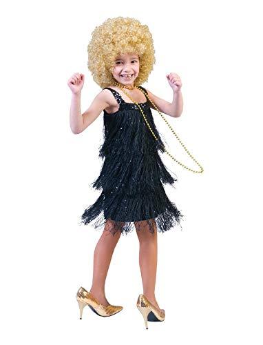Charleston Kleid schwarz Celine Kostüm Mädchen Gr. 116 - 152 - Kleid Kinder Charleston