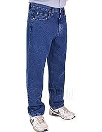 Stonewash Denim /& Black Jeans  W 40 upto W 64 Kam King//Big Sizes Mens Stretch