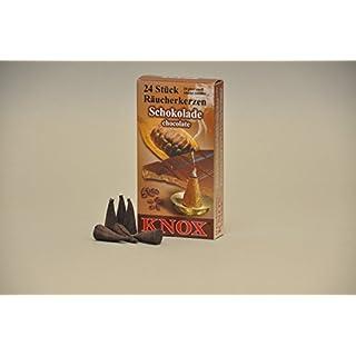 Knox Räucherkerzen / Räucherkegel - Schokolade - 24 Stück / Pkg. (1, Schokolade)