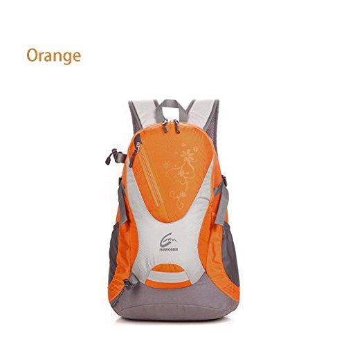 Erweiterte 30L Bergsteigen Rucksack Tasche authentische Outdoor-Reiten wasserdichte Wanderrucksack Orange