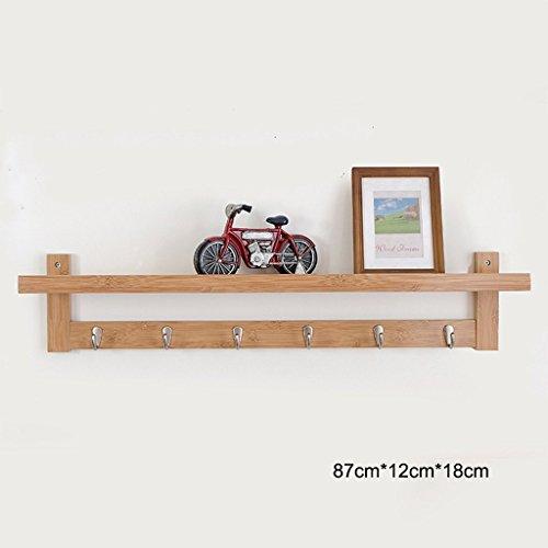 GRY Moderner einfacher kreativer an der Wand befestigter Bambusmantel-Stand-Kleiderständer/Speicher-Regal/Ausstellungsstand / Kleiderhaken,Sechs Haken,*3* - Drei-speicher-haken