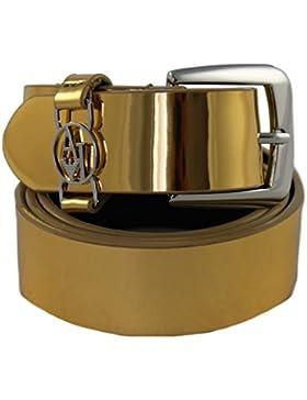 Armani Jeans Gürtel Damengürtel Belt Leder 921008 gold (85 Herstellergröße III)