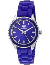 Wellington WN508-133A - Reloj analógico de Cuarzo para Mujer con Correa de Silicona,