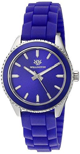 Wellington WN508-133A - Reloj analógico de cuarzo para mujer con correa de silicona, color azul