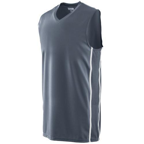 Augusta Sportswear Herren T-Shirt Mehrfarbig Graphit/weiß (T-shirt Jersey Augusta)