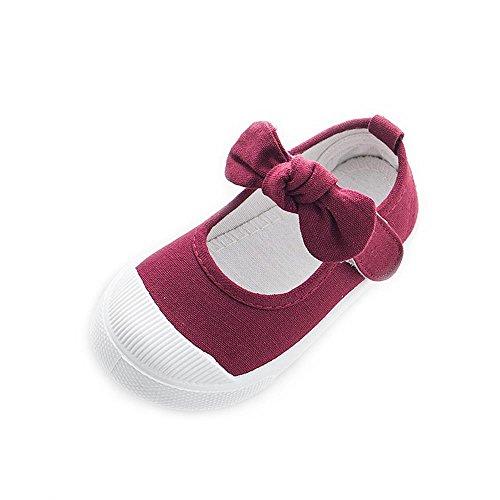 ALUK- Canvas Kinderschuhe Kleine weiße Schuhe Baby Schuhe Studenten Schuhe ( farbe : Weinrot , größe : 26 ) Weinrot