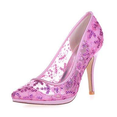 RTRY Donna Shoesstiletto Tallone Punta Pompe/Talloni Wedding/Parte &Amp; Sera Nero/Blu/Rosa/Rosso/Avorio/Bianco/Oro 4A-4 3/4A Golden Blushing Pink