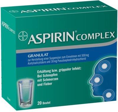 Erkältung Aspirin (ASPIRIN COMPLEX Btl.m.Gran.z.Herst.e.Susp.z.Einn. 20 St Granulat zur Herstellung einer Suspension zum Einnehmen)