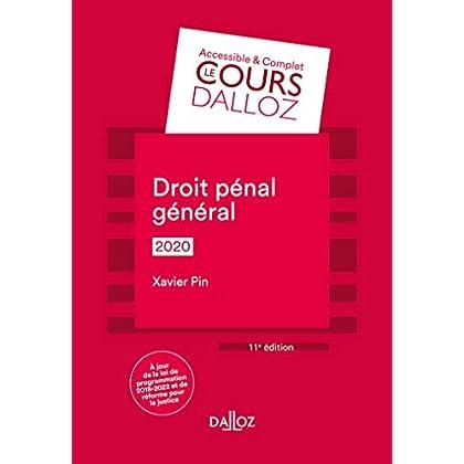 Droit pénal général 2020 - 11e éd.