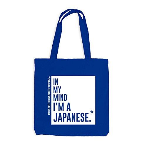 Jutebeutel: Nella Mia Mente Sono Un Royalblau In Stile Giapponese