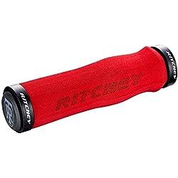 Ritchey WCS Ergo-Puños para manillar de bicicleta, color rojo 130 mm
