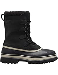 Sorel Mens Caribou Winter Snow Outdoor Durable Nubuck Waterproof Boots - Black/Dark Stone - UK 7