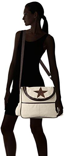 Bags4Less - Wickeltasche, Borsa a tracolla Donna Canvas-Sand