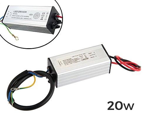 Alimentatore LED driver ricambio per fari a LED trasformatore 20Watt. WS