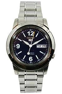 Seiko SNKE61K1 - Reloj para hombres, correa de acero inoxidable color plateado de Seiko