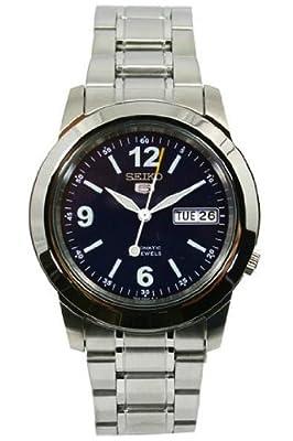 Seiko SNKE61K1 - Reloj para hombres, correa de acero inoxidable color plateado