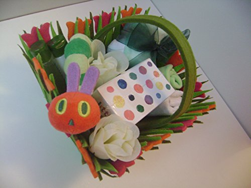 Raupe Nimmersatt Unisex Baby Geschenk Korb-Gorgeous Baby Dusche/New Eltern/Ostern Geschenk von babysfirstnight (Eltern-geschenk-korb)