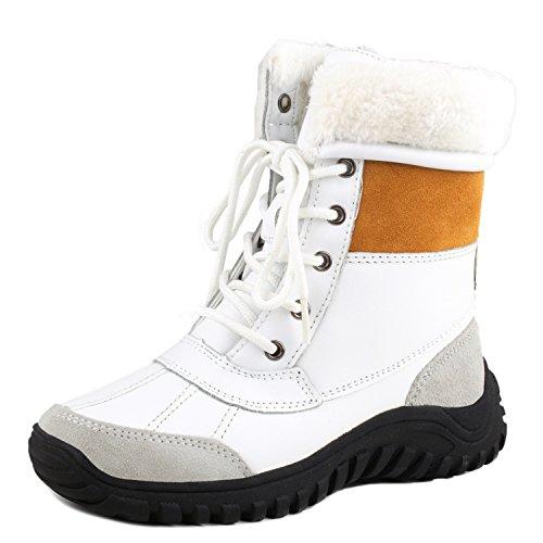 Shenduo Ladies Stivali Impermeabili Mezza Gonna Scarponi Da Neve Stivali Invernali In Pelle Stivali Invernali Da5469 Bianco / Castagna