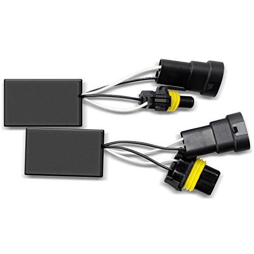 DZG HIR2/HB3/HB4 (9012/9005/9006) LED Scheinwerfer Canbus Decoder Kein Fehler Warnung Canceller Anti-Flicker Resistor Harness für 12V, 2St