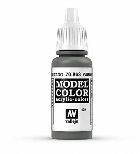 Vallejo Model Color Acrylfarbe, 17 ml Metallic Gunmetal Grey