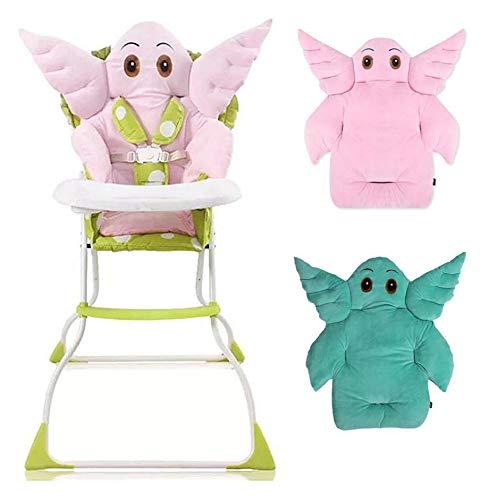 DS NIEDLICHES Baby Kissen *Elefant* Buggy KINDERSITZ HOCHSTUHL (türkis-grün)