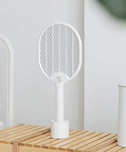 ERKEJI Elektrische Moskito-Klatsche nach Hause USB-Lade Mückenvernichter wiederaufladbare LED-Licht dreiseitigen Sicherheitsschutz