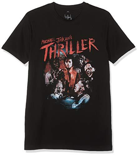 MERCHCODE Herren Michael Jackson Thriller Zombies T-Shirt, Black, S