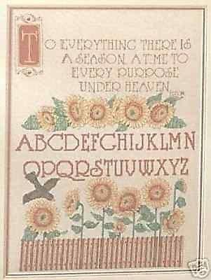 Sunflower Sampler Kreuzstich Chart-Muster, Diagramme -