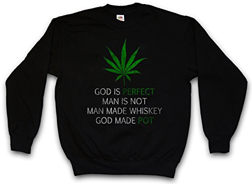 CANNABIS LEAF POEM PULLOVER SWEATER SWEATSHIRT MAGLIONE- Marihuana Weed Ganja Marijuana Pot Smoke Mary Jane Größen S - 5XL - Marijuana Weed Pot