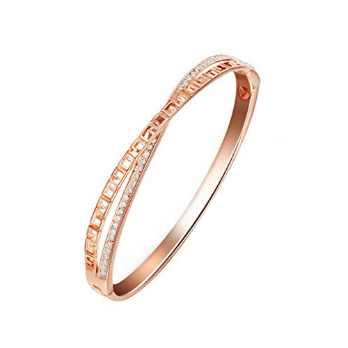yoursfs-art-deco-style-18ct-rose-gold-plated-charm-torque-bangle-bracelet-cross-women-hand-jewellery