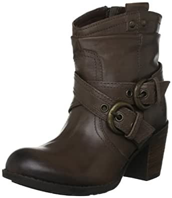 Ladies Hush Puppies Buckle Strap Moorland Ankle Boot - Mushroom - UK Size 6.5 - EU Size 39.5 - US Size 8.5