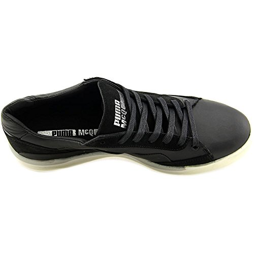 Alexander McQueen By Puma Move Lo Lace Up Cuir Baskets Black-White