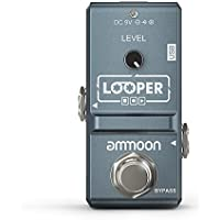 ammoon Pedal Efecto Guitarra Eléctrica AP-09 Nano Loop True Bypass Looper Overdubs Ilimitadas 10 Minutos de Grabación con Cable USB