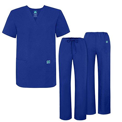 Adar Universal Medical Scrubs Set Medical Uniforms - Unisex Fit - 701 - RYL -2X