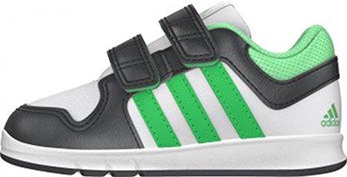 adidas Performance - Trainer 6, Scarpine primi passi Unisex – Bimbi 0-24 Multicolore (Blanco / Gris / Verde)