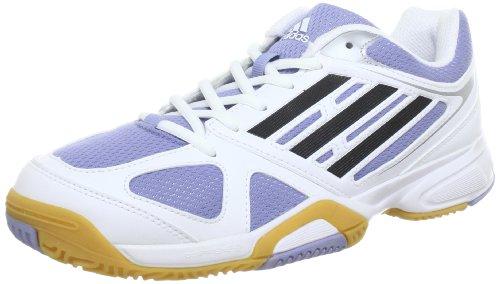 adidas Opticourt Ligra 2 W Q21847 Damen Hallenschuhe Weiß (Running White Ftw / Black 1 / Prism Blue F13)