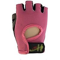 Guantes de jardineria Malla medio dedo guantes de ciclismo Guantes ciclismo antideslizante guantes de ciclismo de carreras Guantes de protección UV verano para hombres mujeres (M) para trabajar al a