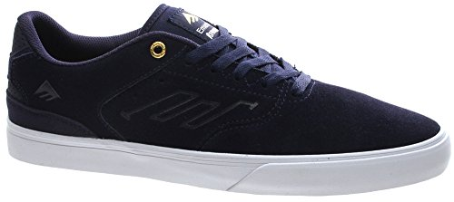 Emerica The Reynolds Low Vulc Herren Skateboardschuhe Navy/White/Gold