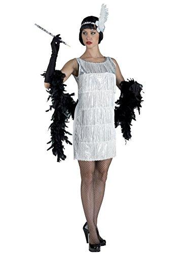 (Chiber - 20er Jahre Charleston Karneval Kostüm Damen Weiß)