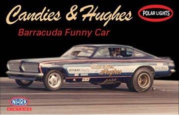 Polar Lights 1/25 NHRA Candies & Hughes Barracuda Funny Car Model Kit by Polar Lights