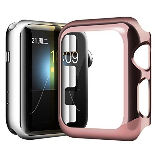Preisvergleich Produktbild Hülle 38mm für Apple Watch, Sasairy Schutzhülle Tasche Case Kompletter Schutz für Apple Watch Series 1 Rose Gold