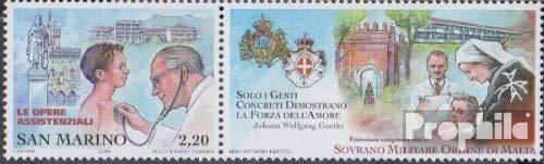 Prophila Collection San Marino 2263Zf mit Zierfeld (kompl.Ausg.) 2006 Humanitäre Hilfe (Briefmarken für Sammler) Gesundheit
