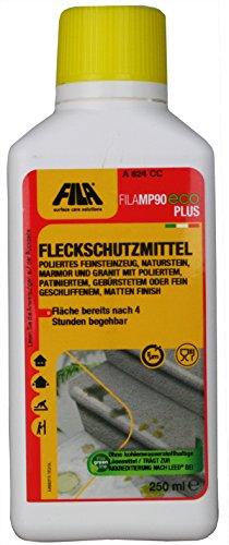 FILA MP90 ECO Plus Fleckschutzmittel für glanzpolierte Flächen wie Marmor, Granit, Naturstein, Feinsteinzeug 250ml -