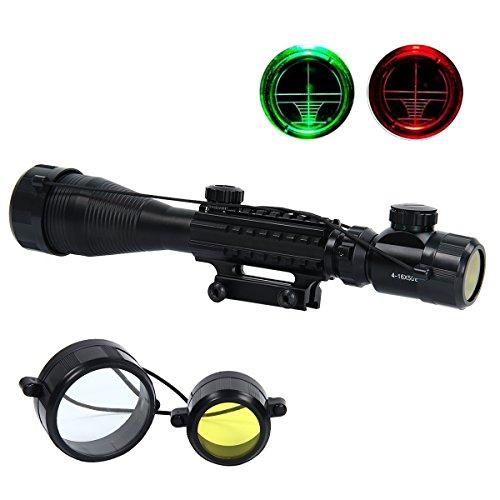 Latinaric Tactical C4-16X50EG Jagd Zielfernrohr Luftgewehr Rifle Scope für Distanz Schießen mit Montage