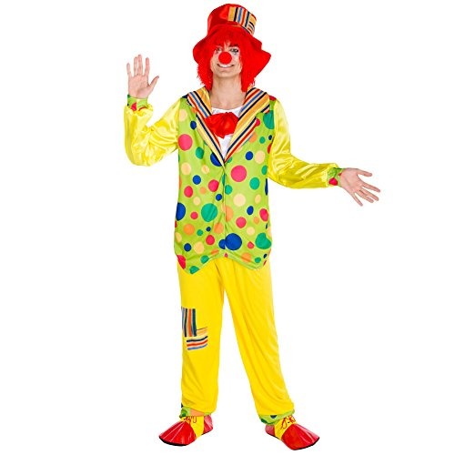 TecTake dressforfun Herrenkostüm Clown   Kostüm + Clown-Nase & Schlapphut   Harlekin Clown-Kostüm Fasching (XXL   Nr. ()