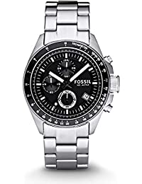 Fossil Decker Chronograph Analog Black Dial Men's Watch - CH2600IE