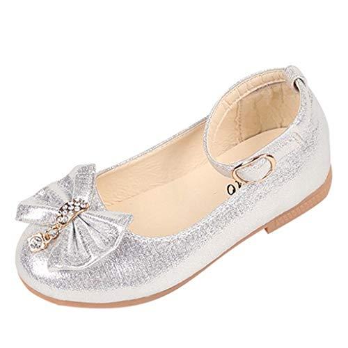 Niñas de los niños Arco Lentejuelas Baile Rendimiento Zapatos Princesa Zapatos Zapatos Individuales...