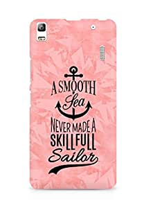 Amez A Smooth Sea Never made a Skillful Sailor Back Cover For Lenovo A7000
