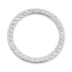 WOQUi Kristall Strass Bling Auto Aufkleber Ring Emblem Zündung Motor Start Stop Schlüssel Ring | weiße