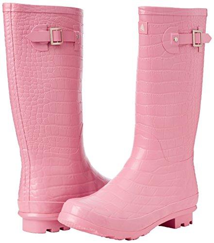 Der Dock Bay Women's croco-Standard-Boot, Papageientaucher Rosa - rose